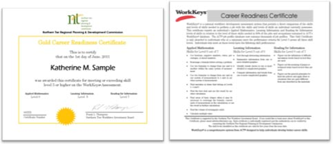 WorkKeys Certificates
